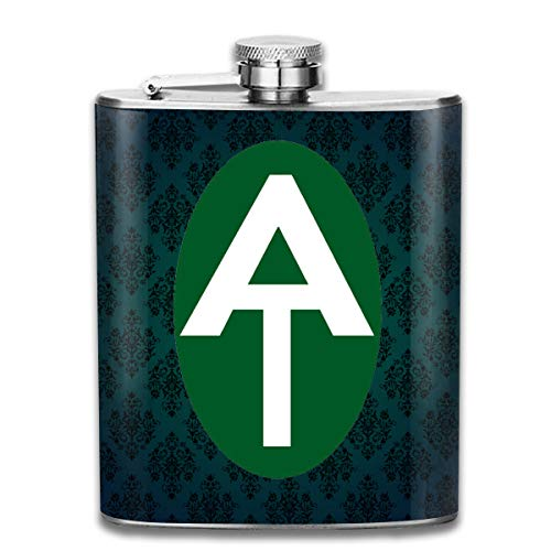 (Appalachian Trail Oval Hip Flask Pocket Stainless Steel Flask,7)