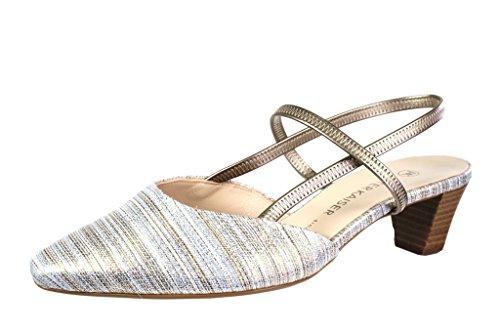 Peter Kaiser 41787-536 - Sandalias de Vestir de Cuero Repujado Para Mujer metálico