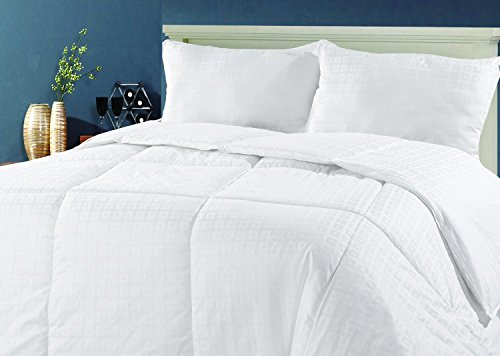 EverydaySpecialcom 100% Australian Wool Premium Extra Weight Cotton Jacquard Comforter Full Size