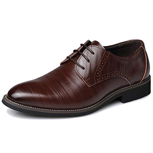 Oxford Shoes Casuale Classico Lace Formali Matrimonio Manodopera Punta Calzature Pelle Uniformi Brown Della Uomini Formale Di up Scarpe Business Aguzza Di Derby ax6wnqnRO