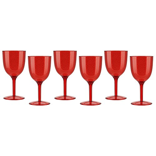 Zak Designs 0078-0530-ISET Spritz Plastic Wine Glass, (Spritz Glass)