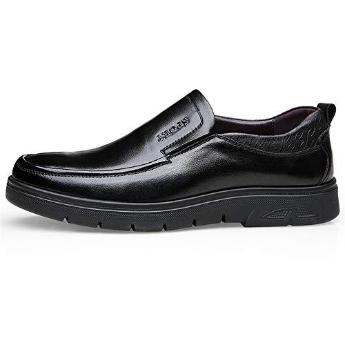 Casual Negocios Hilotu Oxford Zapatos Hombres Formal Calzado Para Holgazán De Negro Simple wqqIA6