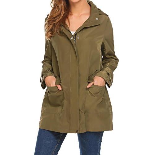 New Etuoji Women Hooded Long Sleeve Waterproof Lightweight Jacket Windbreaker Raincoat hot sale