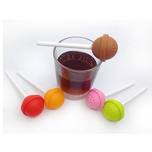 Money coming shop Silicon Sweet Tea Infuser Candy Lollipop Loose Leaf Mug Strainer Cup Steeper ZY