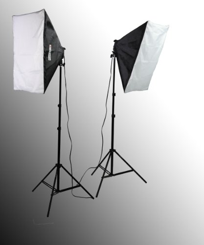 ePhoto Professional Photography Video Chromakey 10×12 Ft Green White Black Muslin Backdrop Support Kit & Softbox Hair light Boom Stand Kit by ePhotoInc H9004SB-1012BWG