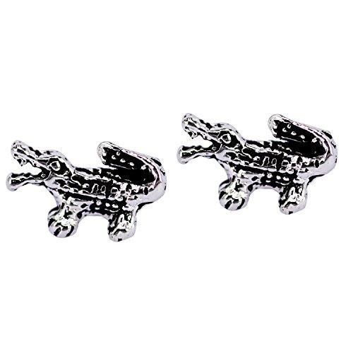 Sterling Silver Alligator Stud Earrings (Sterling Silver Alligator)