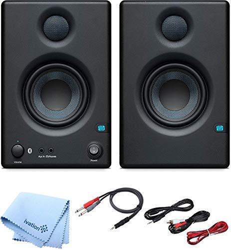 PRESONUS 쌍 ERIS E3.5 3.5 웨이 25 와트 니어 필드 블루투스 스튜디오 모니터 및 프로 케이블 키트