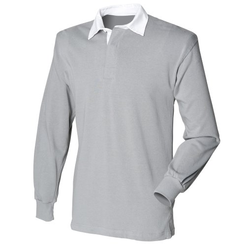 Front Row Mens Long Sleeve Sports Rugby Shirt - Large / Chest 40 - 42in - Slate Grey
