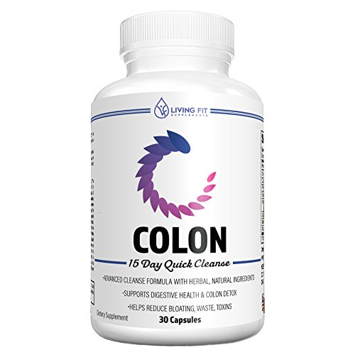 Living Fit Detox Colon Cleanse: 15 Day Natural Quick Cleanse for Weight Loss, Detox & Increased Energy Levels, Flush Out Harmful Toxins, Promotes Healthy Gut, Relieves Constipation & - Flush Cleanse Fat