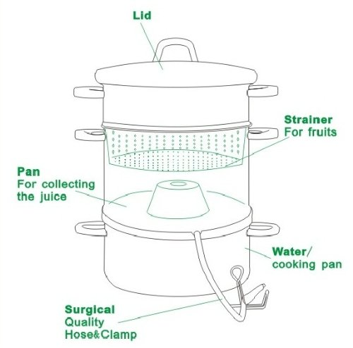 Cook N Home NC-00256 11-Quart Stainless-Steel Juicer Steamer by Cook N Home (Image #1)