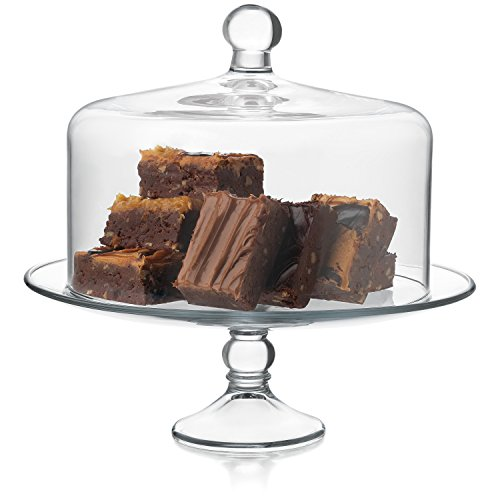 Libbey Selene Glass Cake Stand with Dome - Other Glass Stand