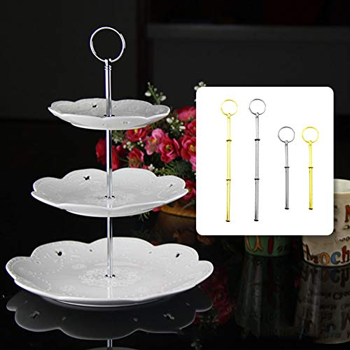 eroute66 Three Tier Cake Stand and Fruit Plate for Cakes Desserts Fruits Candy Buffet Stand Silver Two Layers Two Layers by eroute66 (Image #2)