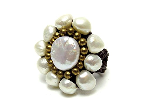 Pearl Beaded Ring - 6