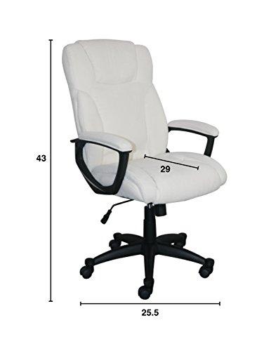 Serta Style Hannah II Office Chair, Microfiber, Ivory by Serta (Image #6)