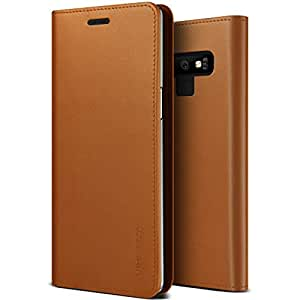 VRS Design Samsung Galaxy Note 9 Genuine Leather Diary Wallet cover/case - Brown