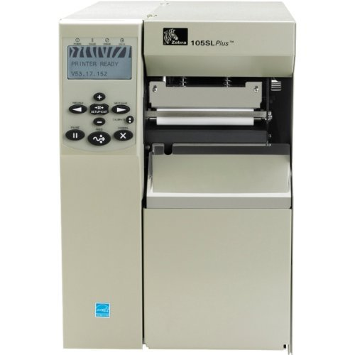 Zebra Technologies 102-801-00000 Series 105SLPlus TT Tabletop Printer, 203 dpi Resolution, Serial/Parallel/USB 2.0/Internal Zebra Net Print Server, 16 MB SDRAM with ZPL II/XML, 120 VAC