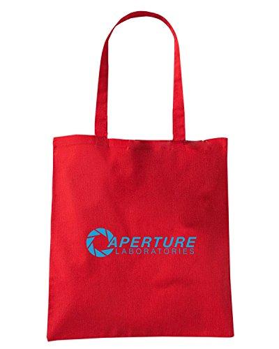 T-Shirtshock - Bolsa para la compra FUN0616 aperturetshirt laboratorylogo dkbrown cu 1 16 1 Rojo