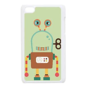 Fanny Robot Pattern Phone Case - Perfectly Match To iPod Touch 4 - By Coco Nuts Cases