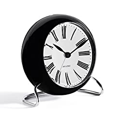 Arne Jacobsen Table Clock Roman with Alarm by Amazon source