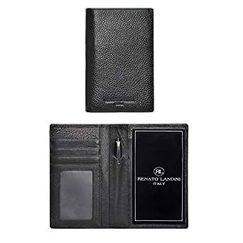 RENATO LANDINI Black Notepad Wallet For Unisex