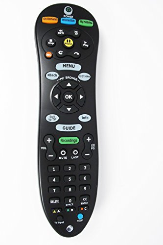 Genuine AT&T U-Verse Uverse S20-S1A Programmable IR Universal Remote Control Compatible Part Numbers: CY-RC1055-AT