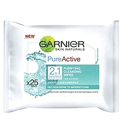 Garnier Pura Activa 2 En 1 Toallitas (Paquete de 2)