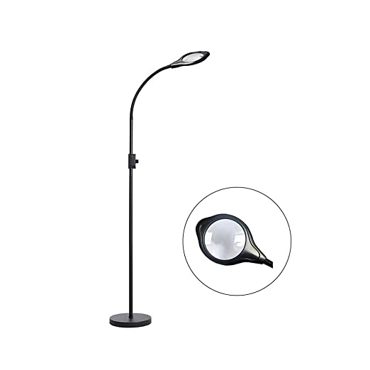 MAGFYLY Lámpara de pie con Lupa LED, Lupa 2X con luz, Lupa ...