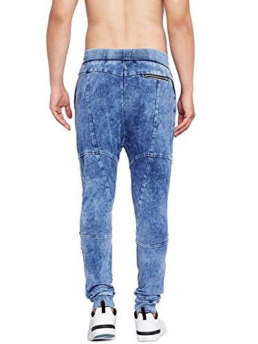 61c52765 FUGAZEE Men's Biker Denim Washed Slim Fit Stretchable Cotton Joggers (Blue,  Small): Amazon.in: Clothing & Accessories