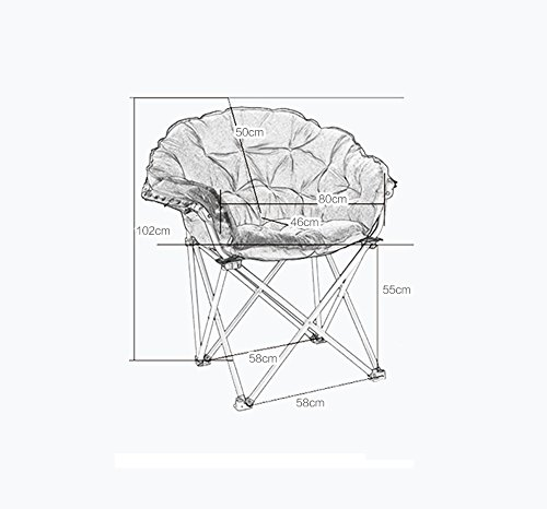 Folding chair / computer chair / home student dormitory chair / home fashion chair / folding chair / lazy sofa / adjustable folding chair / multi-color optional folding chair / ( Color : C ) by Folding chair (Image #1)