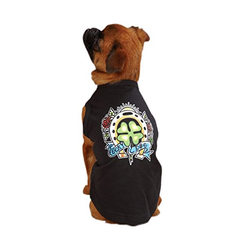 East Side Collection 12-Inch Cotton/Polyester Tattoo Dog Tees, Small, Clover