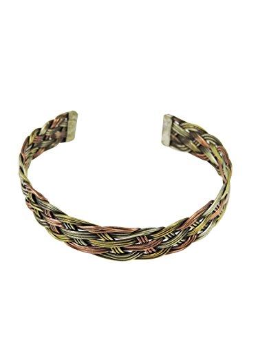 (Handmade Tibetan Three Metal Medicine Bracelet From Nepal (S7) )