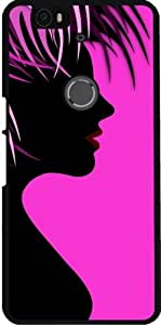 Funda para Google Nexus 6P (Huawei) - Pintura Muchacha De Las Mujeres De Color Rosa by WonderfulDreamPicture