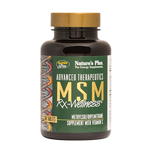 NaturesPlus MSM Rx Wellness – 2000 mg Methylsulfonylmethane, 60 Vegetarian Tablets – Joint Health Support Supplement with Vitamin C – Gluten-Free – 30 Servings