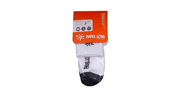 Padel Lobb - Calcetín basico coolmax, talla 35/38 , color blanco ...