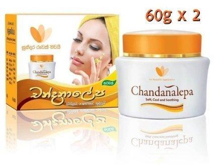 100% Original CHANDANALEPA Natural Ayurvedic Herbal Skin Cream 60g x 2 by Sanjeewaka Ayurvedic Products