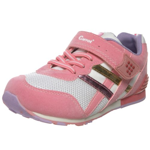 (Tsukihoshi CHILD08 Retro Sneaker (Toddler/Little Kid),Pink/White,9 M US Toddler)