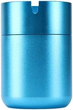 車の灰皿付きカバー自動車は、一般的な金属アンチ飛んアッシュ用品 (Color : Blue)