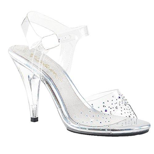 408SD CARESS Strap Clear Women's Sandal Clear Fabulicious Platform Ankle R7xBnvqq