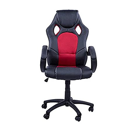 HOMCOM Gaming Silla Oficina ejecutiva Deportiva Racing Altura Regulable Respaldo Inclinable giratoria Silla Gamer de PC Negro/Rojo: Amazon.es: Hogar