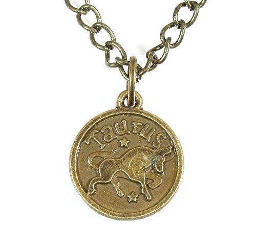 - ARThouse Sign of Taurus, Zodiac Taurus (The Bull) Pendant on Chain; 20 Inches Adjustable