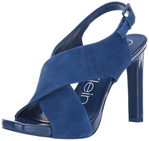 Calvin Klein Women's MYRA Pump, Royal Blue Suede, 8.5 M US (Shoes Calvin Sandal Men Klein)