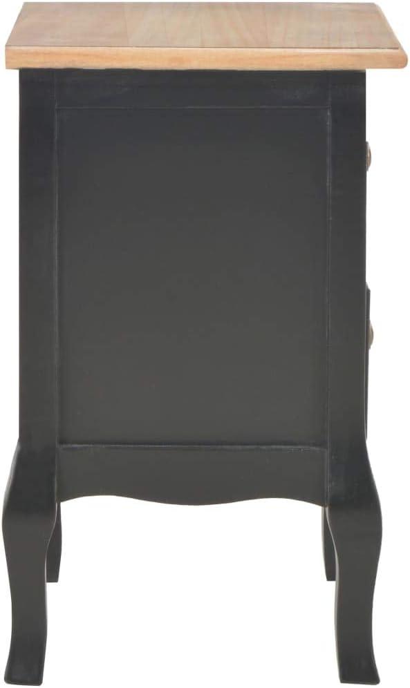 vidaXL Comodino Tavolinetto Mobiletto Elegante Resistente Solido Robusto Durevole Arredo Camera da Letto Assemblato Nero 35x30x49 cm in MDF