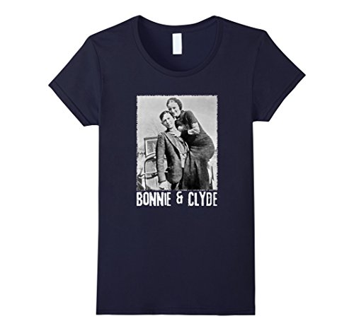 Best Original Costumes For Couples (Womens Bonnie & Clyde Matching Couple Shirts and Adult Costumes Large Navy)
