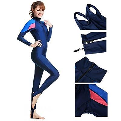 JNTworld Women Full Length Wetsuit Fullsuit JumpSuit Surfing Diving Bodyboarding