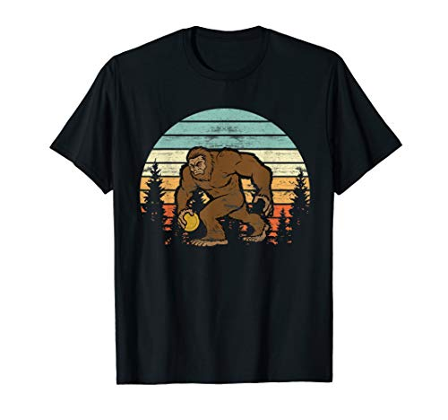 (Funny Disc Golf Gift Bigfoot Disc Golf Player Shirt Boy Girl)