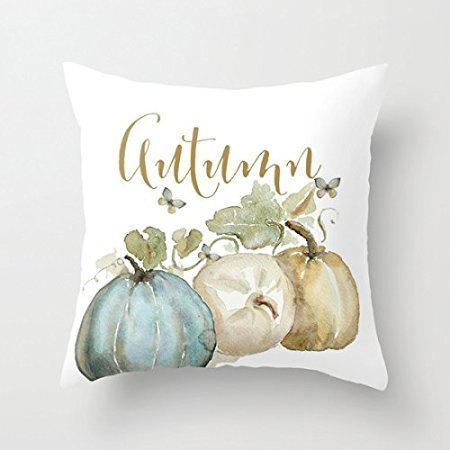 UPC 773822045664, Autumn Pumpkins Decorative Throw Pillows Pillow Case Cushion Covers with Zip 18 x 18 for Living Room