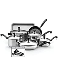 Farberware Classic Stainless Steel 12-Piece Cookware Set