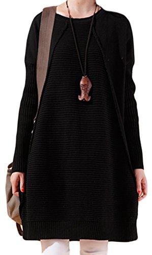 Vogstyle - Suéter de manga larga para mujer Style 1-Black