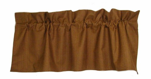 American Mills 37398.716 Patriot Valance, 18 by 54-Inch, Honey, Set of 2 For Sale