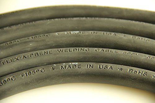 Crimp Supply Ultra-Flexible Car Battery/Welding Cable - 1/0 Gauge, Black - 40 Feet - and 5 Copper Lugs by Crimp Supply (Image #2)
